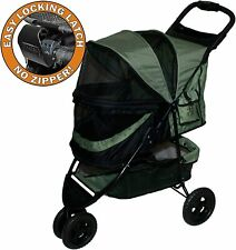 Pet No Zip Special Edition Stroller Gear 3 Wheel Cats Dogs Zipperless Entry Fold