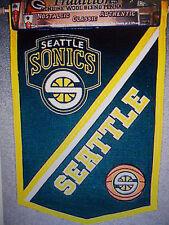 Winning Streak NBA Seattle Sonics 12x18 Wool Pennant