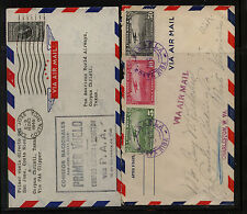 Costa  Rica   2  airmail  covers   one a first flight         MS1012