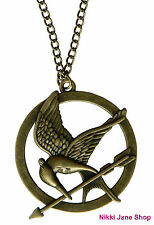 The Hunger Games Mockingjay Bird Pendant Necklace - Antique Bronze
