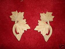 1 x Pair of ornate leaf design  wooden mouldings