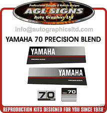 1989 YAMAHA 70 HP OUTBOARD DECAL SET, Precision Blend  60 hp 80 hp