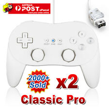 2x White Classic Pro JoyPad GamePad Game Controller for Nintendo Wii Console AU