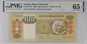 Angola 100 Kwanzas 2011 P 147 a GEM UNC PMG 65 EPQ