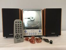Sony CMT-EX1 AM-FM/ CD Player Hi-Fi Stereo Bookshelf Micro System With Remote