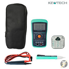 Kewtech KIT26 KT111 MULTIMETRO, kewstick uno, kewcheck 103 Tester per presa + VALIGETTA