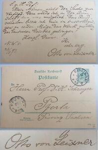 Writer Otto From Leixner (1847-1907): Pk Berlin 1893 An Hermann Schreyer