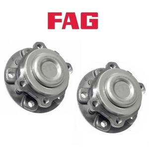 For BMW F10 F12 528i Pair Set of Front Left+Right Wheel Hub w/ Bearings FAG OEM
