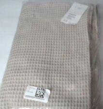 New H&M 100% Cotton Waffled Bath Towel, Beige 100cm x 150cm
