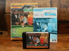 Konami Billiards for MSX - Cartridge with Box and Instructions