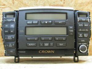 2003 2008 JDM TOYOTA CROWN ROYAL SALOON GRS18O AC HEATER CONTROL AM FM UNIT OEM