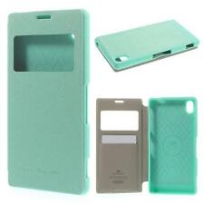 Schutz Tasche Hülle Flip Cover Case Etui f Sony Xperia Z3 D6603 VIEW TÜRKIS 86H2
