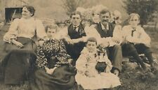 """Oct 17 1895 Outdoor Photo Family, Girl with Doll, """"Got Word Father Robbins Dead"""""""