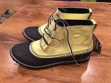 Womens Sorel Out N About Rain Boots - NWT Yellow Size 8.5