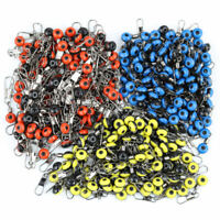 100pcs Sea Fishing Lure Space Beans Floating Seat Snap Swivel Fishing Tackle qwe