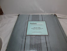 "NEW HOTEL LUXURY Drapery WINDOW PANELS Two-54""X84"" - Grey Gray and Black Stripe"