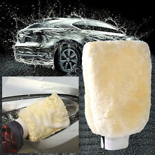 Car Auto Cleaning Wash Glove Duster Mitt Polishing Wax Soft Sheepskin Lambswool
