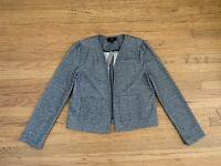 NWT J CREW 365 black white boucle open front jacket sz S