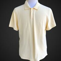 J CREW Men's Size L Pale Yellow Short Sleeves Polo Shirt