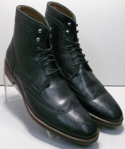 203981 SPBT50 Men/'s Shoes Size 9 M Black Leather Boots Johnston /& Murphy