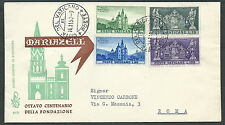 1957 VATICANO FDC VENETIA 37 MARIAZELL NO TIMBRO ARRIVO - SV15