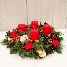 weihnachts adventskranz in rot g nstig kaufen ebay. Black Bedroom Furniture Sets. Home Design Ideas