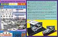 ANEXO DECAL 1/43 LANCIA DELTA S4 HENRI TOIVONEN TOUR DE CORSE 1986 (05)