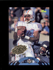 1995 NFL Experience HAYWOOD JEFFIRES Houston Oilers Gold Super Bowl XXX Card