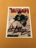 Peter Sidorkiewicz Signed Hartford Whalers 91-92 Upper Deck Card