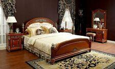 Completos Dormitorio Lujo Diseñador Estilo Antiguo Cama Tocador Mesillas