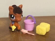 Littlest Pet Shop LPS Fuzzy Mane & Fuzzy Tail  PONY HORSE #627 Preowned