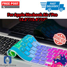 "Rainbow Keyboard Cover Protector for Apple MacBook Pro Air 13.3"" 15.4"" 17"""