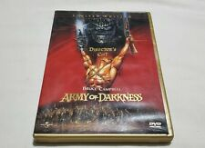 OOP UNRATED ARMY OF DARKNESS DIRECTORS CUT LIMITED EDITION DVD EVIL DEAD HORROR