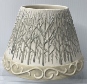 Yankee Candle Large Ceramic Shade Topper Bare Winter Forest Trees Christmas