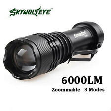 6000LM CREE Q5 AA/14500 3 Modes Zoom LED Super Bright Flashlight Torch MT