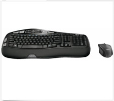 Logitech - MK570 Comfort Wave Wireless Keyboard and Optical Mouse - Black