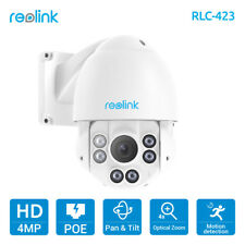 Reolink PTZ IP Camera PoE 4MP Pan/Tilt 4x Optical Zoom HD Security Cam RLC-423