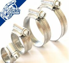 25-40mm W1 Zinc Coated Steel Clip Fuel Air Water Worm Hose Clamp 5 Pack
