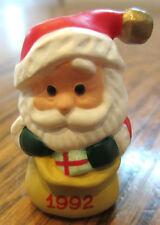 Hallmark Merry Miniatures 1992 Santa With A Bag Full Of Goodies Toys 1992