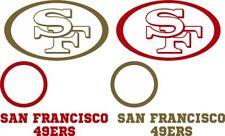 San Francisco 49ers Cornhole Decal Set - 2 Free Window Decals - 8 pc Set