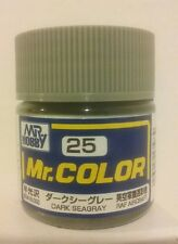 Gunze Sangyo Mr Color C-25, Semi-gloss Dark Sea Grey.