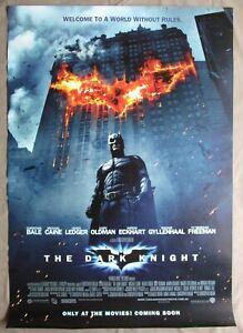 THE DARK KNIGHT 2008 Original Australian movie poster Batman Heath Ledger