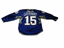 Cal Clutterbuck ny islanders signed game used final season fisherman jersey 2015