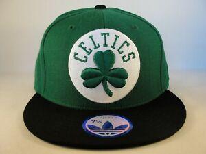 Boston Celtics NBA Adidas Fitted Hat Cap Size 7 5/8 Green Black