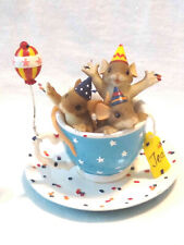 """Charming Tails """"Tea Party"""" (Mouse) [Blue Teacup][Retired]"""
