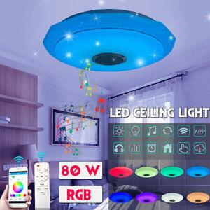 80W Lampada da Soffitto Plafoniera LED RGB Dimmerabile bluetooth Altoparlante