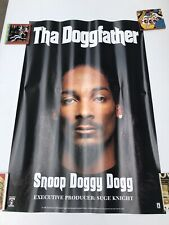 Vintage Snoop Dogg Tha Doggfather Death Row large promo rap poster 1996 Rare