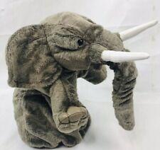"Big Elephant Plush Hand Stage Puppet Trunk Tusks Ring Folkmanis 20"" Dumbo"