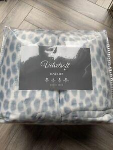 Cozee Home Dappled Dots Velvetsoft 4 Piece Duvet Set Blue Double