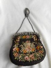 Devoted Antique Art Deco Handmade Black Crochet Silver Steel Bead Fringe Flapper Purse Buy Now Bags, Handbags & Cases